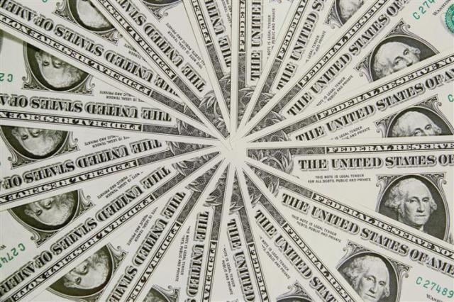 Pin wheel design of US one dollar bills