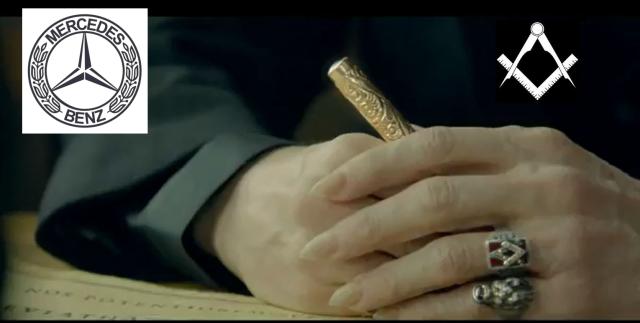 Mercedes Super Bowl Ad Masonic Ring