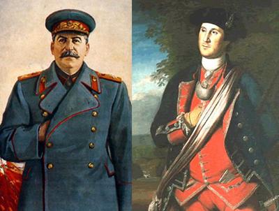 Stalin und Washington - zwei gegensätzliche Ideologien, eine Handgeste