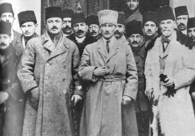 Mustafa Kemal Atatürk (b. 1881 – d. 1938) Atatürk at the Sivas Congress (held from September 4 to September 11, 1919).