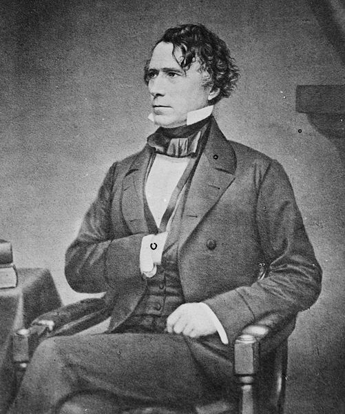 Franklin Pierce (b. 1804 – d. 1869) 14th President of the United States Photo circa. 1855 Possible Freemason. (unconfirmed)