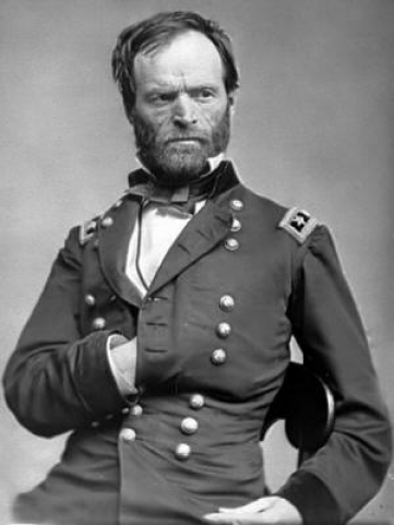 "William Tecumseh Sherman (b. 1820 – d.1891) Ruthless American Civil War Union general. His total war polices of ""scorched earth"" against the South, have earned him the reputation as the first 'modern general'."