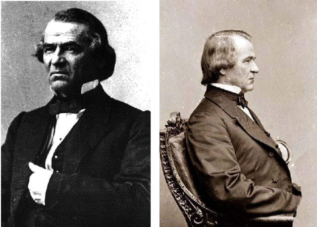 Andrew Johnson (b. 1808 – d. 1875) 32° Freemason and 17th President of the United States. Johnson pardoned 3 of the 8 men charged in the Lincoln assassination. Initiated May 5th, 1851 in the Greeneville Lodge No.119, Greeneville, Tennessee. First U.S. President to be impeached. His close association with Freemasonry was one of the factors that led to his impeachment trial