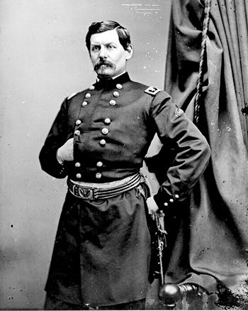 George B. McClellan (b. 1826 – d. 1885) Freemason and Major General during the American Civil War. McClellan was the Democratic nominee opposing Lincoln in the 1864 presidential election. Received all three degrees of Freemasonry Dec. 9th, 1853, in Willamette Lodge No. 2, Portland, Oregon