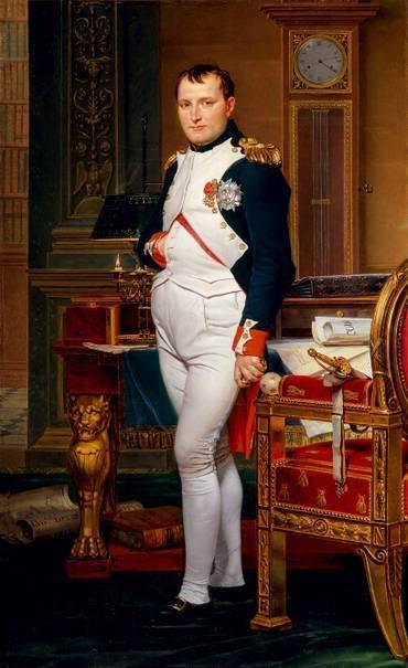 Napoleon, ein bekannter Freimaurer bei seinen Studien im Tuilerienpalast, 1812