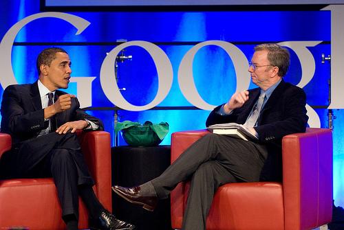 Barack Obama und Eric Schmidt
